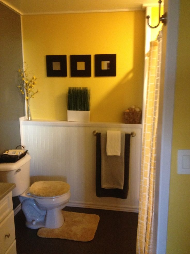 11 Best Yellow  Gray Bathroom Ideas Images On Pinterest  Bathroom Bathrooms Decor And Yellow