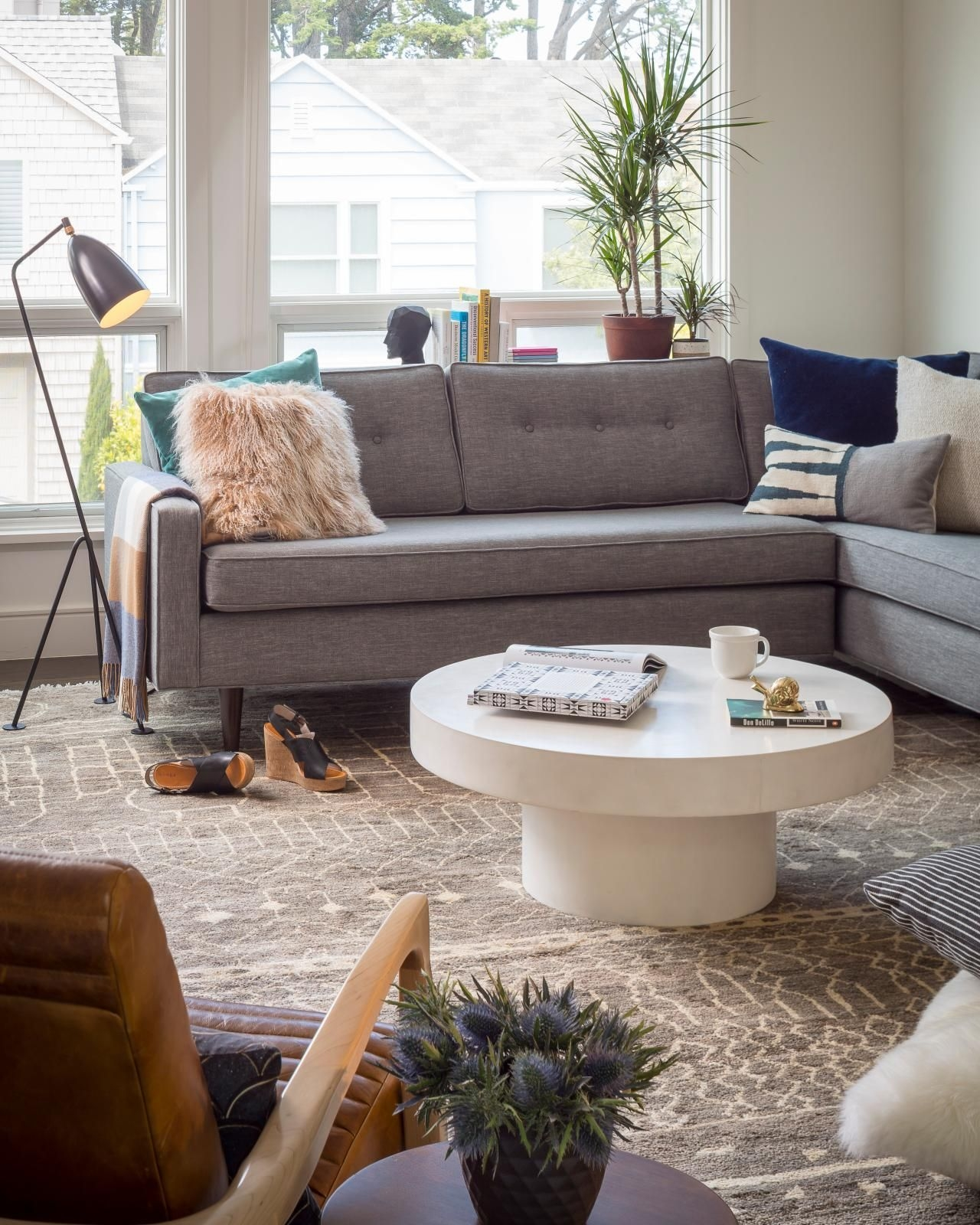 12 Living Room Ideas For A Grey Sectional  Hgtv'S Decorating  Design Blog  Hgtv