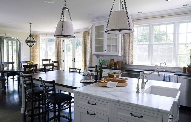 13 Best Kitchen Islands With Attached Tables Images On Pinterest  Kitchens Arquitetura And