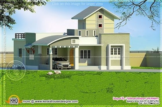 2 Bedroom Single Storied House  Kerala Home Design And Floor Plans