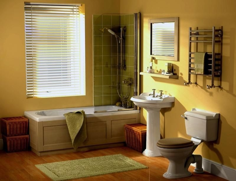 20 Cozy Yellow Bathroom Design Ideas  Rilane