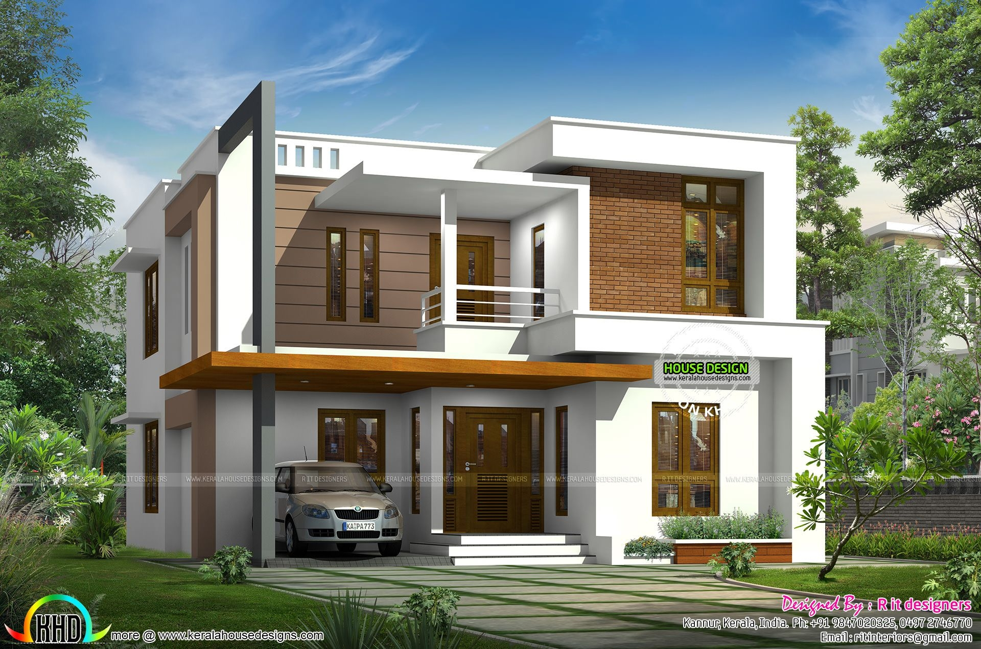 2132 Sqft Modern 4 Bedroom House  Kerala Home Design And Floor Plans