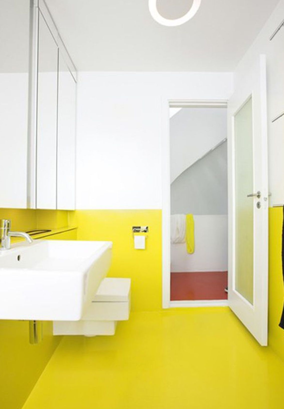 23 Cool Yellow Bathroom Design Ideas  Interior God