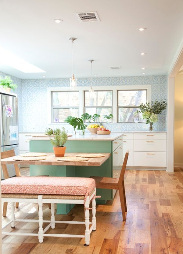 30 Kitchen Islands With Tables A Simple But Very Clever Combo  Kitchen Island And Table Combo
