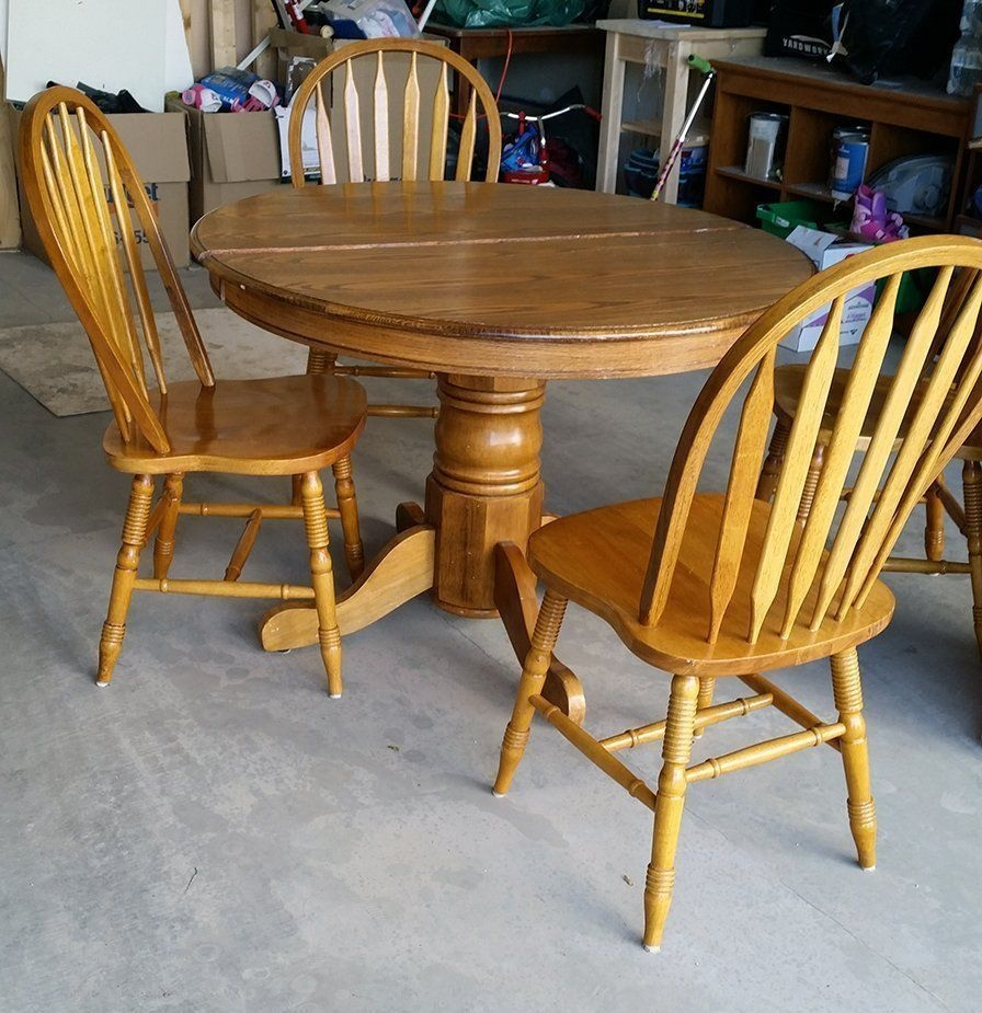 50 Kijiji Table Makeover  Before  Table Makeover Kitchen Table Oak Dining Table Makeover