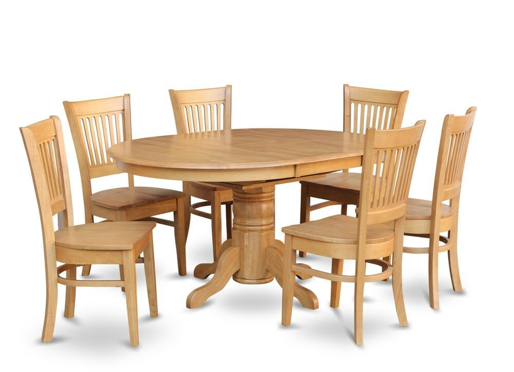 5Pc Oval Dinette Kitchen Dining Room Set Table W 4 Wood Seat Chairs Light Oak  Ebay