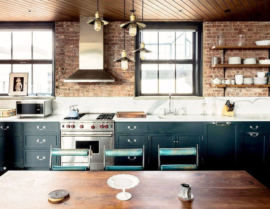 6 Droolworthy Celebrity Kitchens  Industrial Style Kitchen Loft Kitchen Celebrity Kitchens