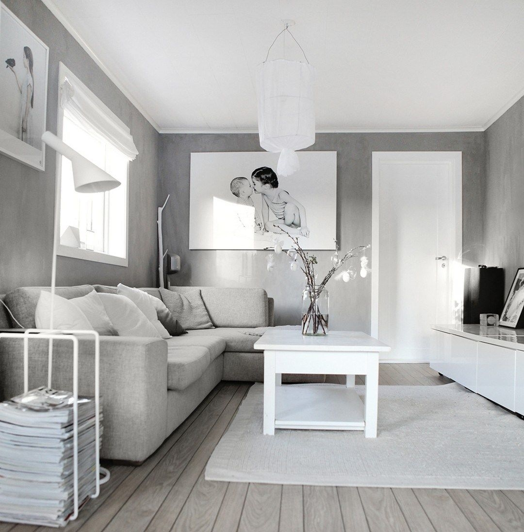 99 Beautiful White And Grey Living Room Interior  Decoration For House