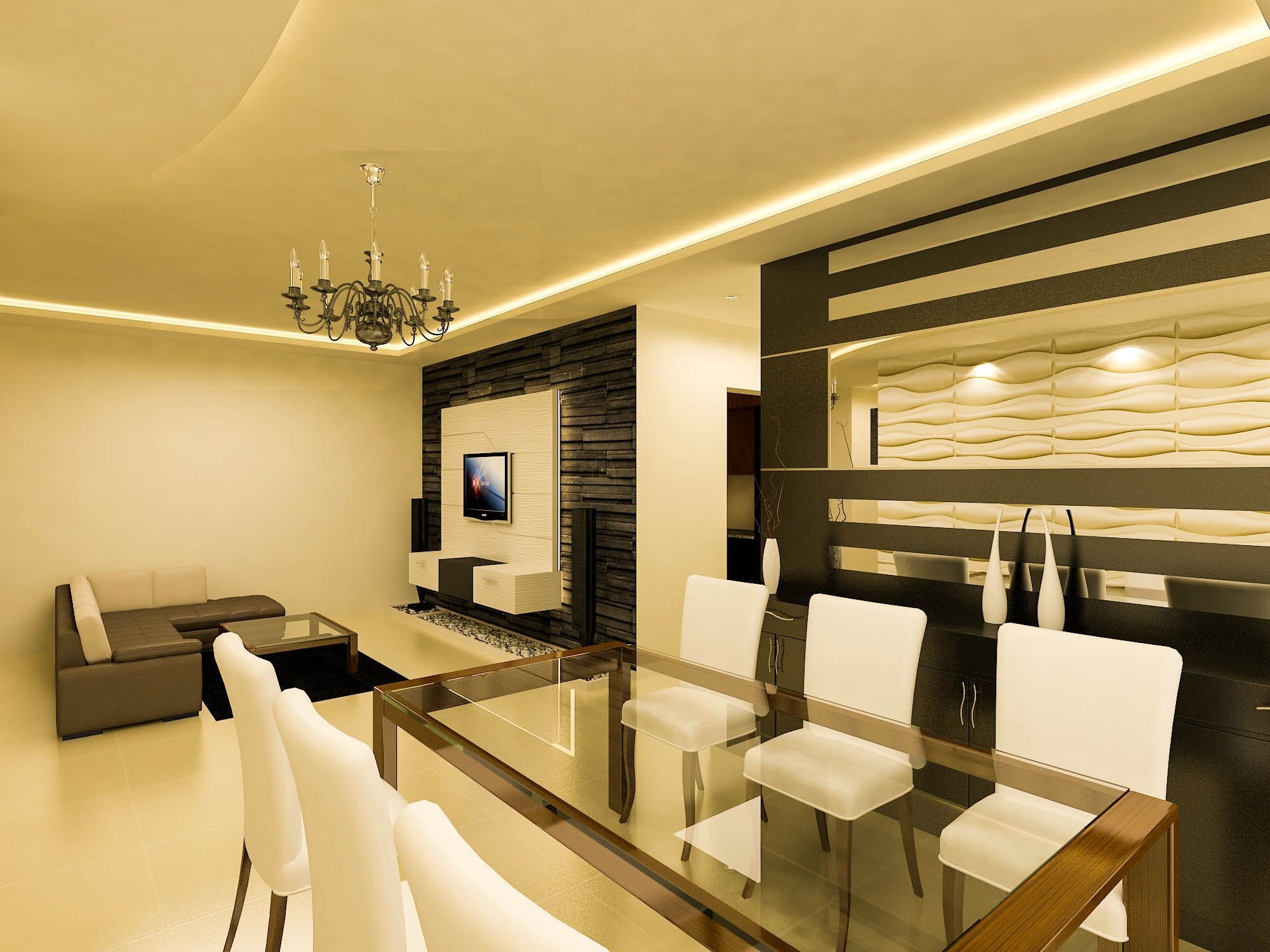 A Living Room Design For The Sobha Classic Apartment In Bangalore Checkout Wwwbonitoin
