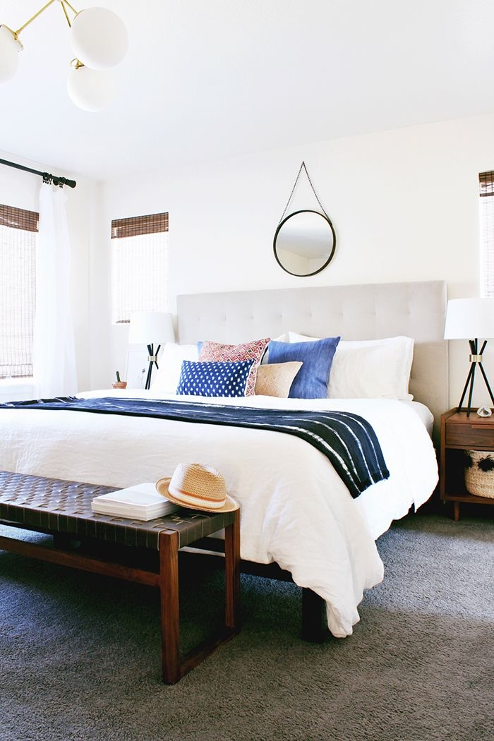 A Modern Eclectic Bedroom Reveal  Hither  Thither