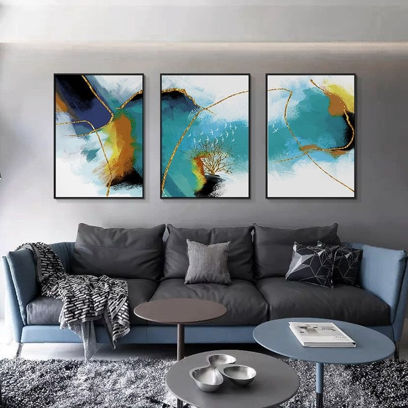 Abstract Living Room Decorative Paintings Sofa Background Oil Painting Modern Minimalist