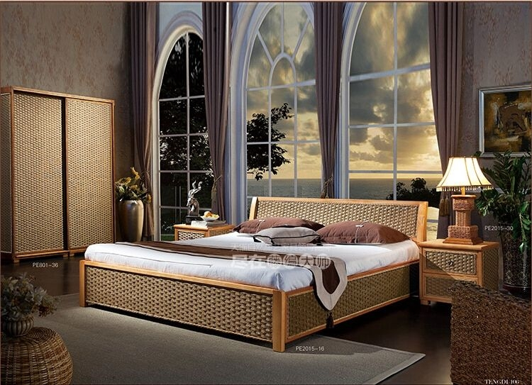Aliexpress  Buy 2016 New Design Fashion Leisure Rattan Bed Bedroom Furniture Without