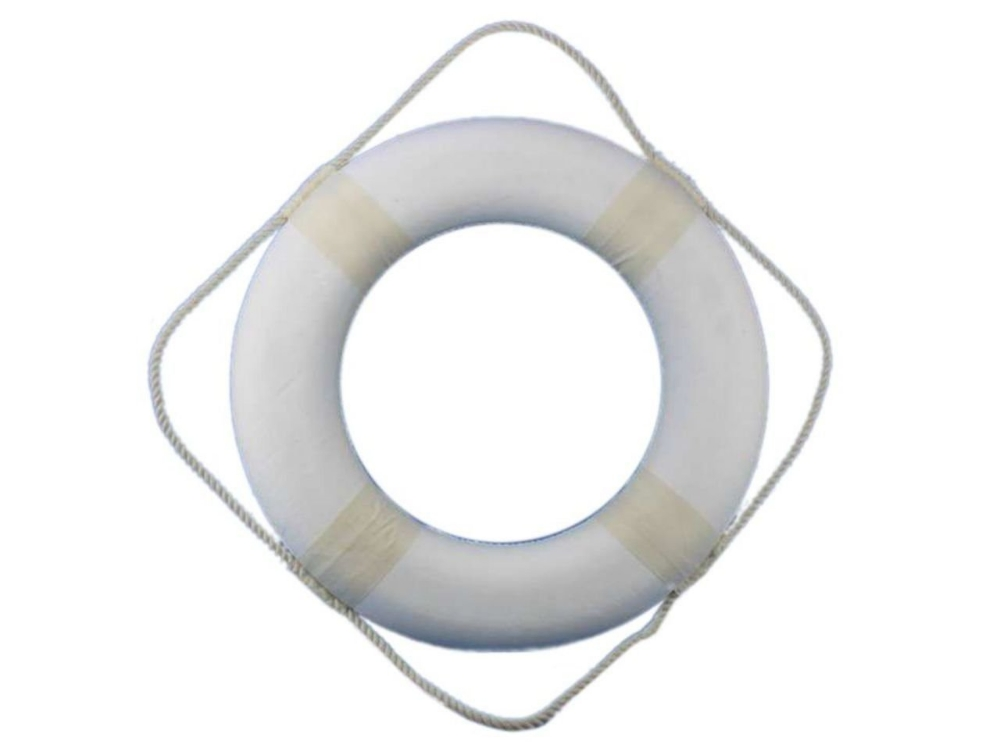 "Amazon Hampton Nautical White Decorative Life Ring 20"" Home  Kitchen  Nautical Bathroom"