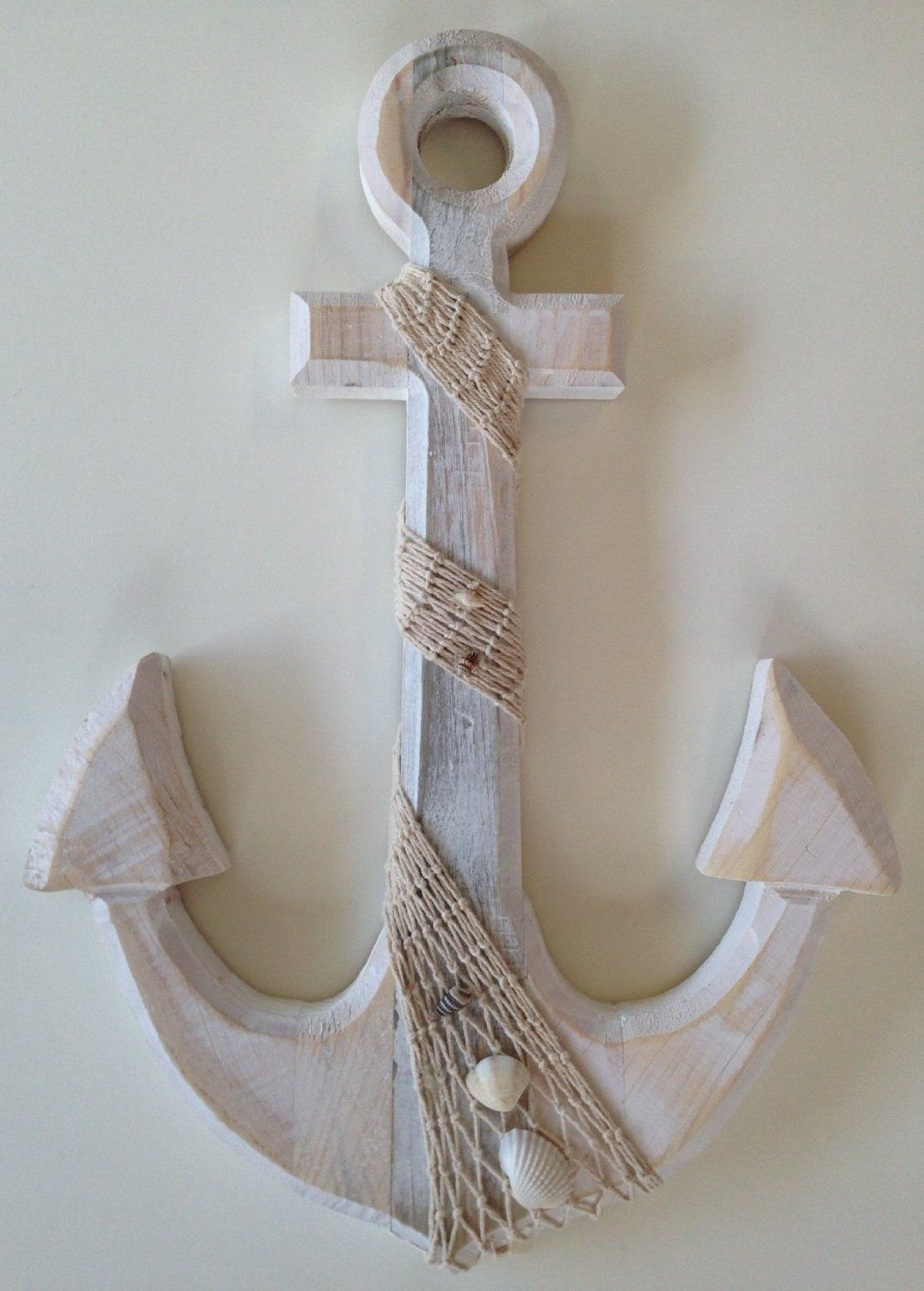 Amazon  Large Anchor Wall Plaque   Nautical Theme Bathroom Nautical Bathroom Decor Wood