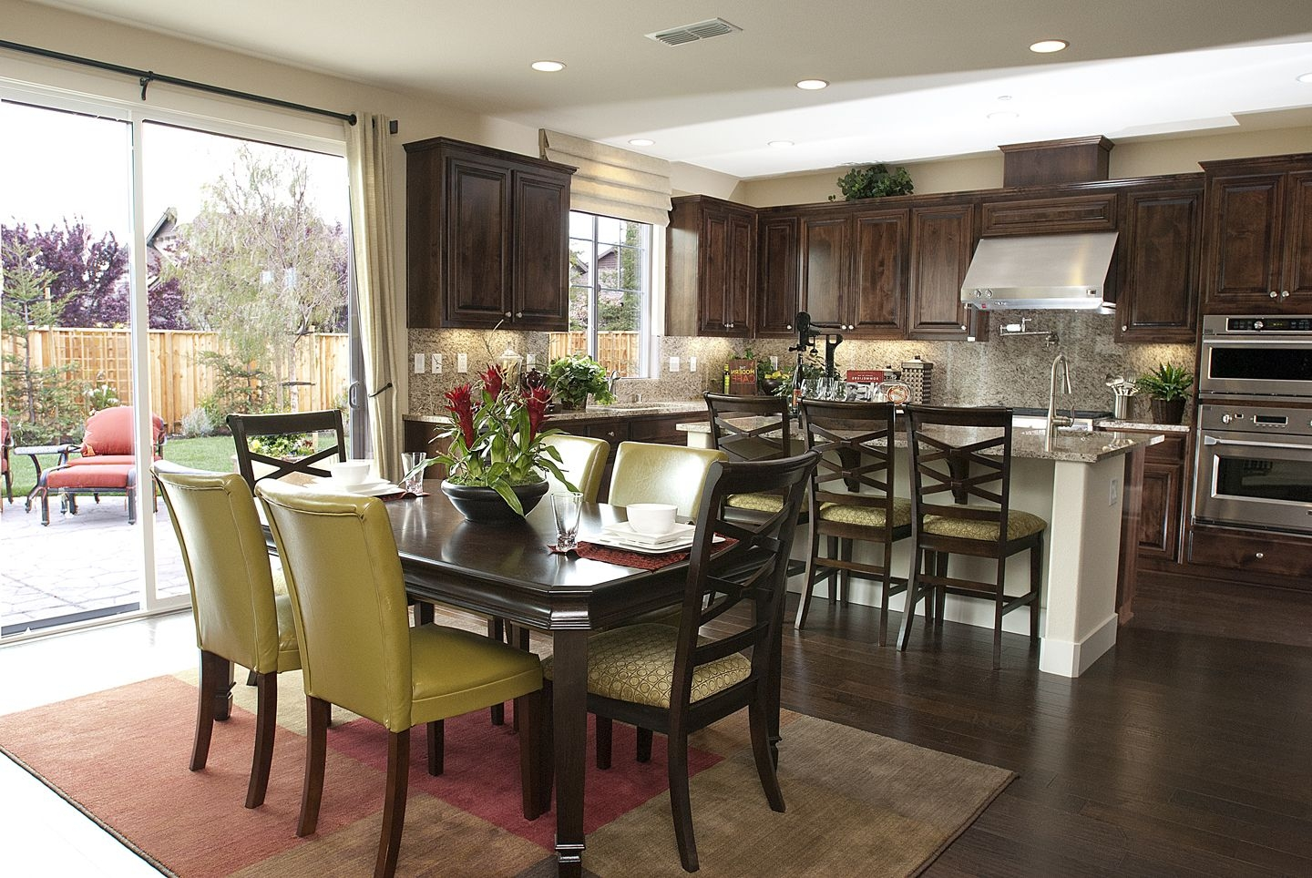 Antique Dining Room And Kitchen Interior Design Combo 8078  House Decoration Ideas