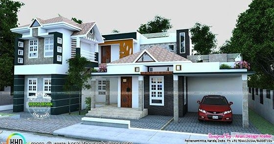 Beautiful Double Storied Modern House  Kerala Home Design And Floor Plans