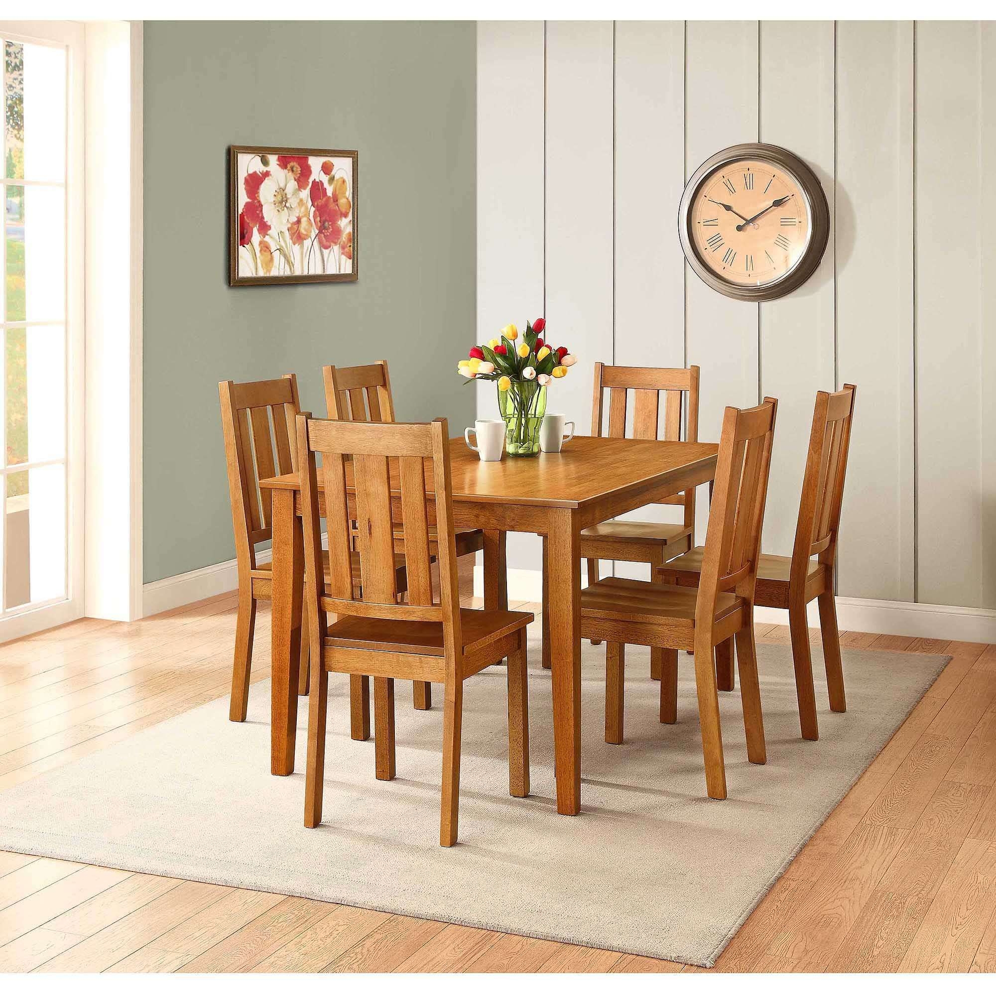 Better Homes And Gardens Bankston Dining Table Honey Kitchen Chairs Xmas New  Ebay