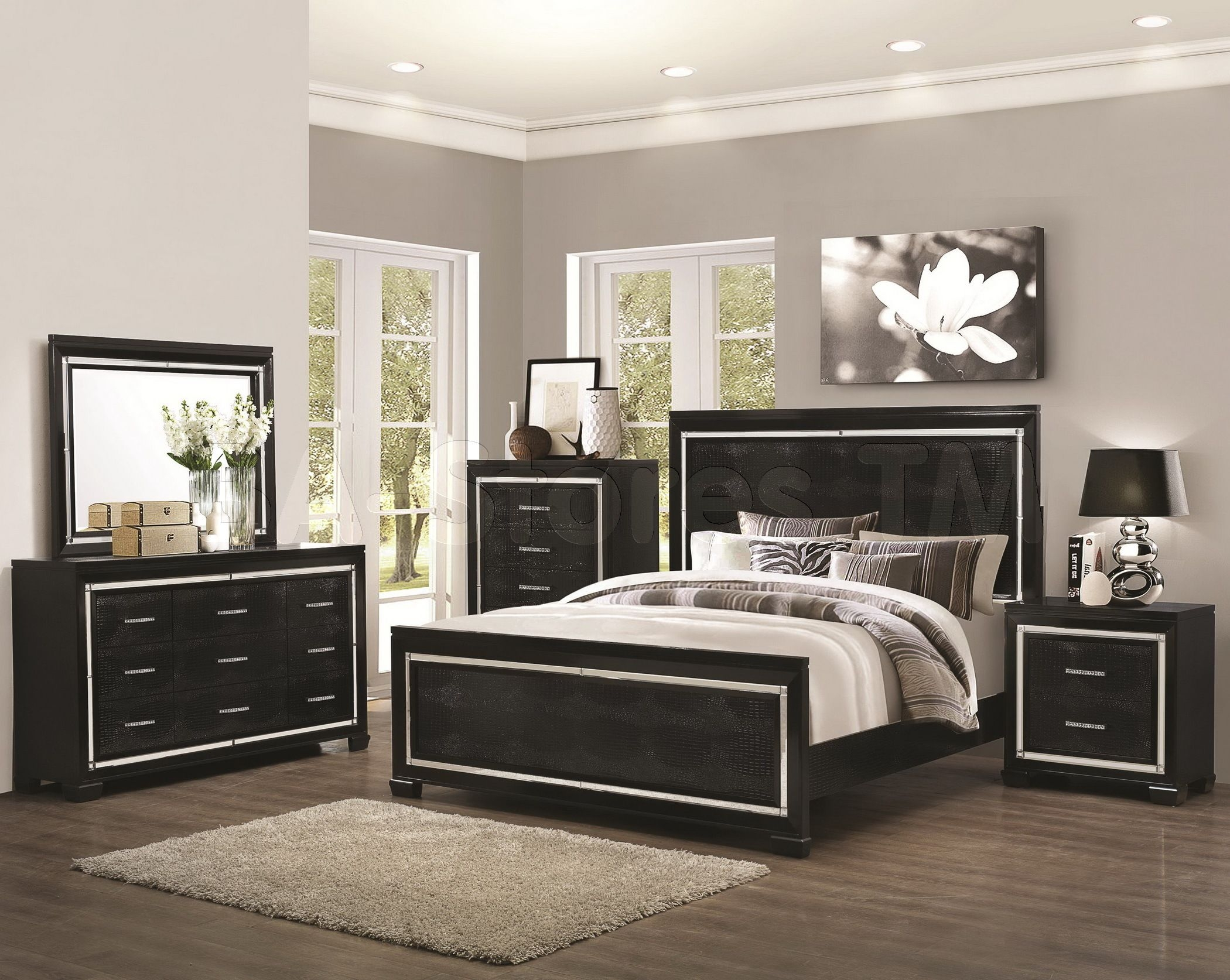 Black And Mirrored Bedroom Furniture  Hawk Haven