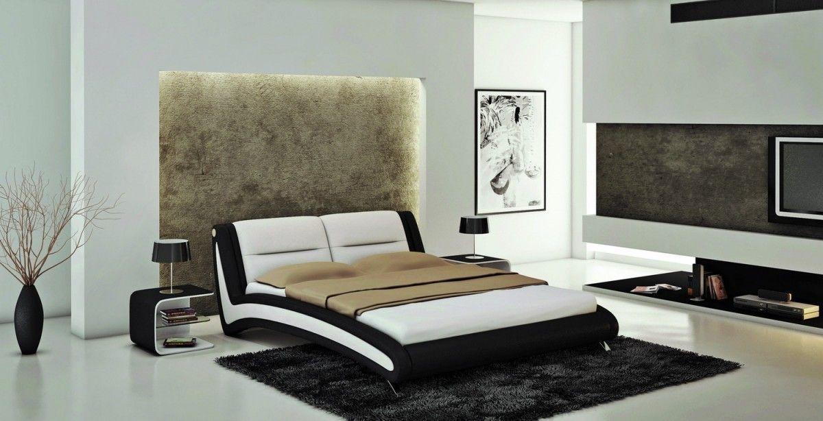 Black And White Bedroom Theme Via Modern Furniture  La Furniture Blog