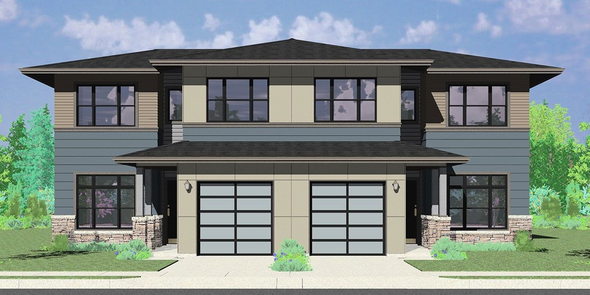 Blueprint Home Design  Duplex House Plans  Bruinier  Associates