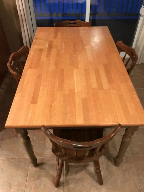 Butcher Block Style Kitchen Table With 4 Chairs  Dining Tables  Sets  Barrie  Kijiji