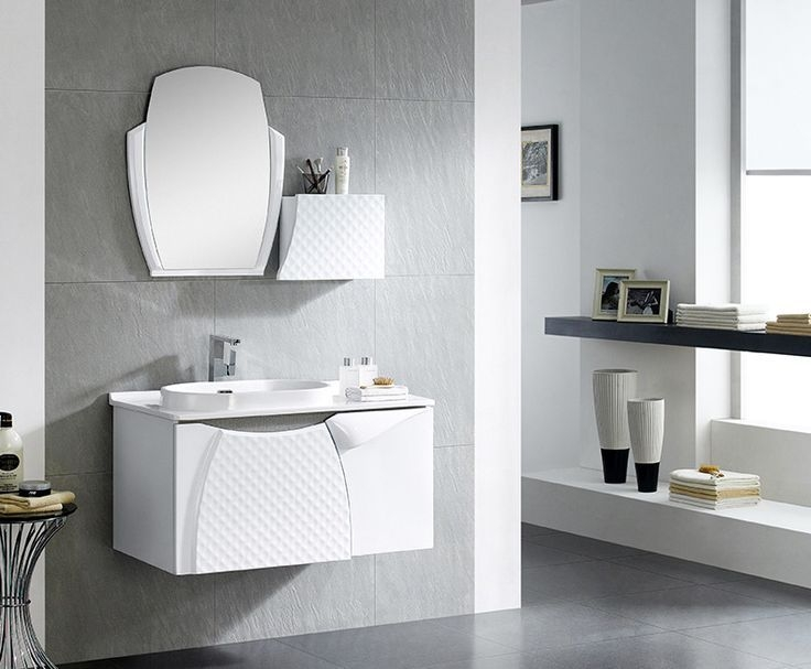 Butterfly Series Wallhung Bathroom Cabinet 18Mm Thickness Plywood Waterproof  Wall Hung