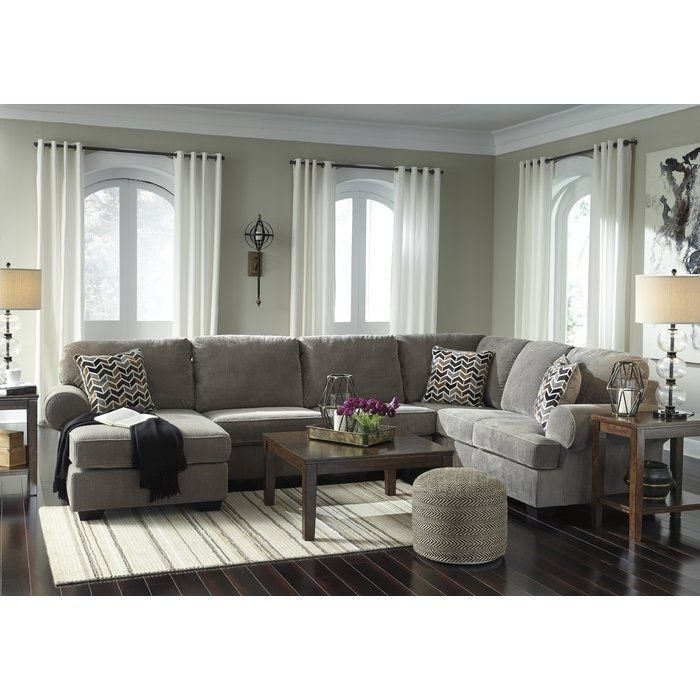 Charlton Home Ellicottville Ushaped Sectional  Reviews  Wayfair  Modern Furniture Living