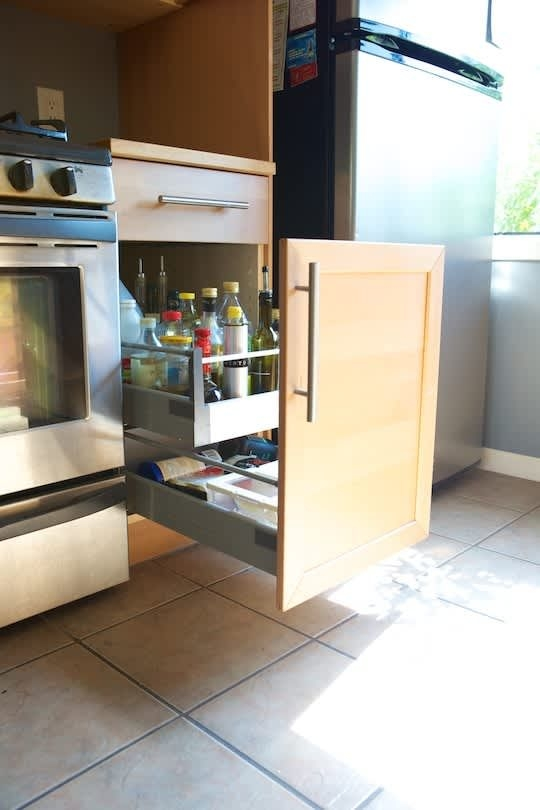 Chris Upgrades His Kitchen Cabinets With Ikea Drawer Pullouts  Kitchn