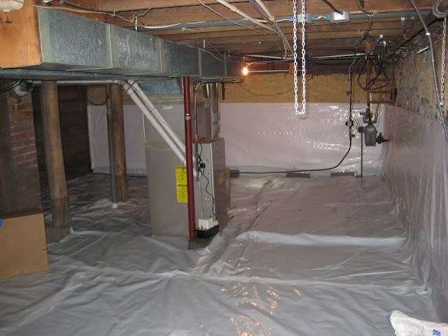 Cleanspace Vapor Barrier  Crawlspace House Home