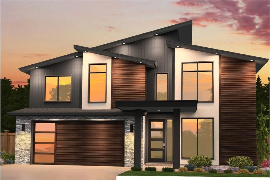 Contemporary House Plan  4 Bedrms 25 Baths  2402 Sq Ft  1491850