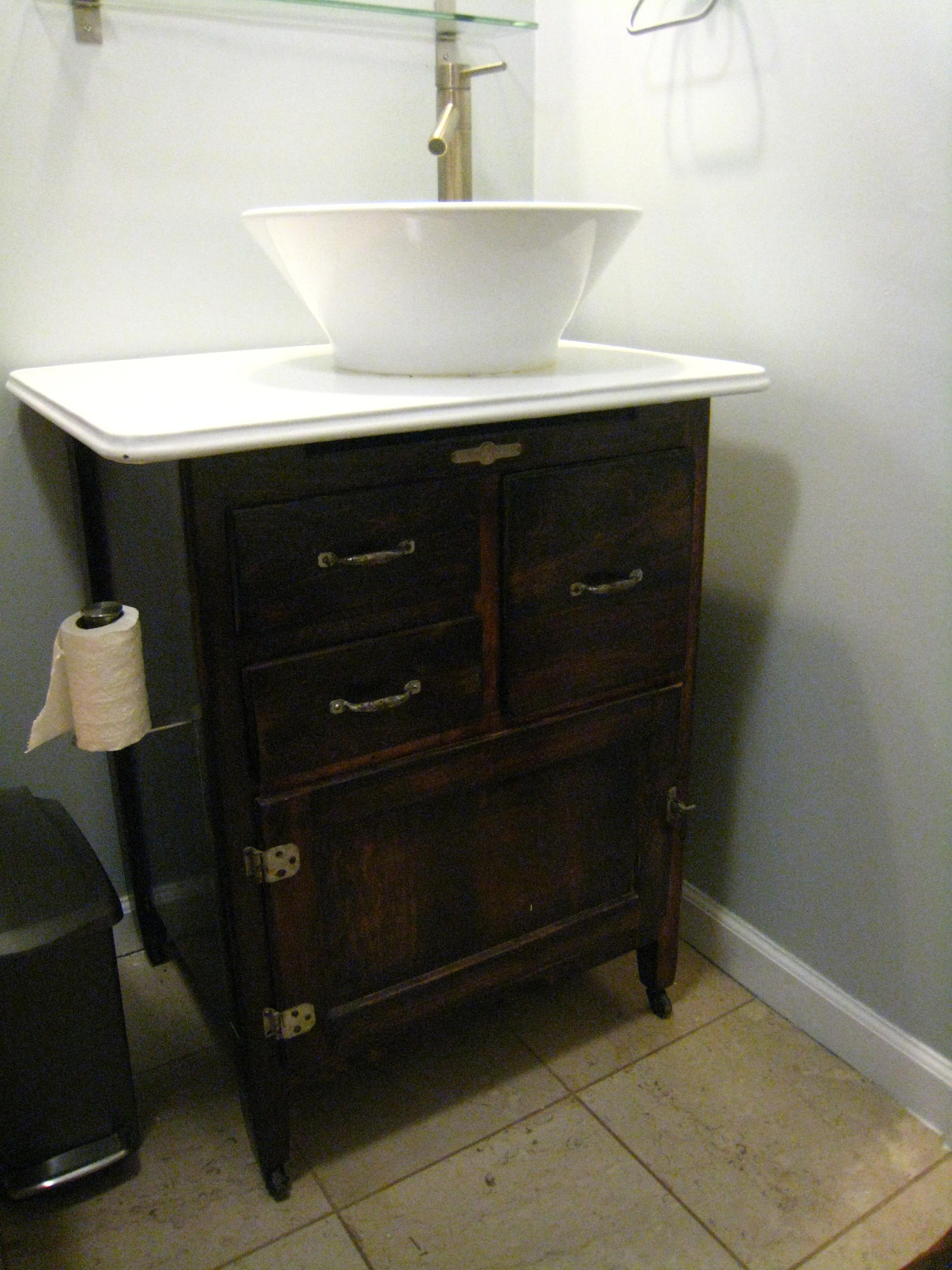 Creative Homemade Bath Vanity  Addicted To Rehabs