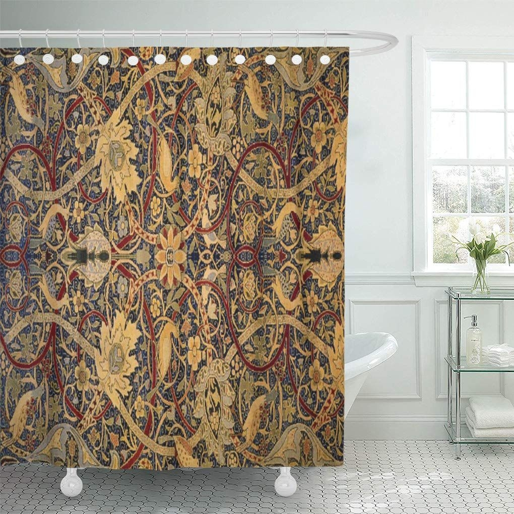 Cynlon Vintage William Morris Pre Bathroom Decor Bath Shower Curtain 60X72 Inch  Walmart