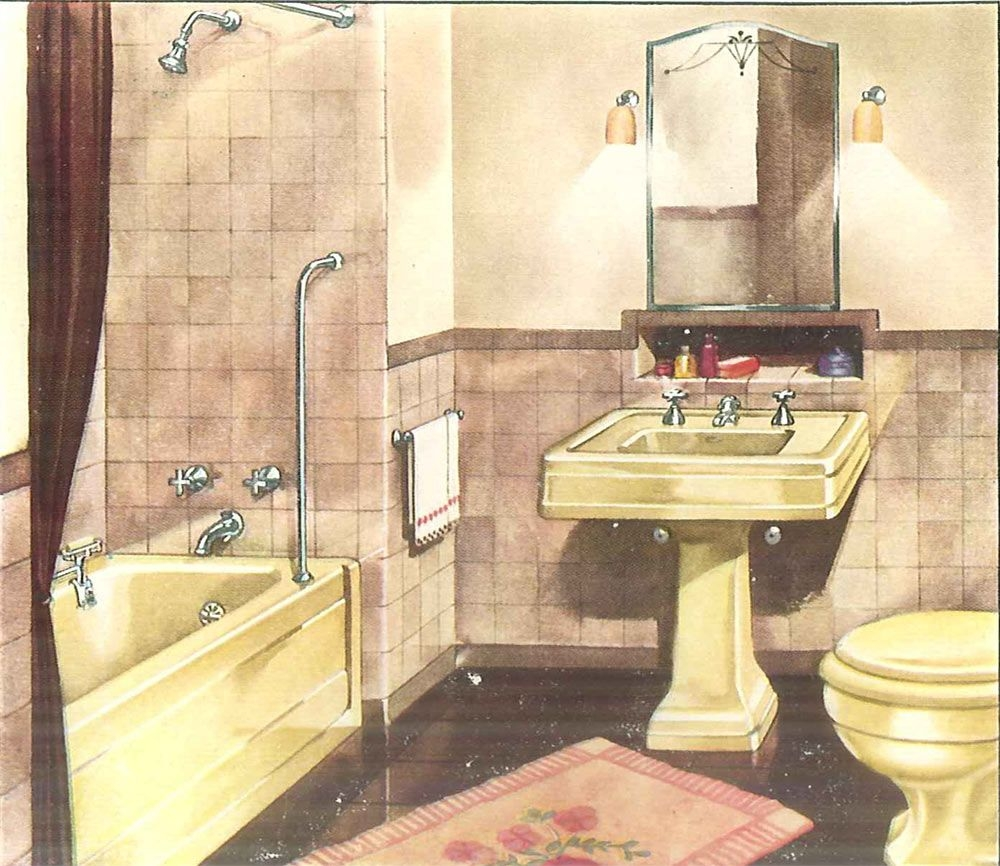 Decorating A Yellow Bathroom Color History And Ideas From Five Manufacturers From 1927 To 1962