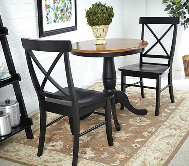 Dining Kitchen Table Set Furniture Black Chairs Room Dinette Small Space Saver  Ebay