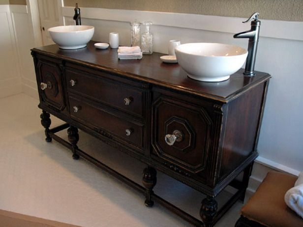 Diy Bathroom Vanity  How To Repurpose Old Furniture In A Bathroom  Howto  Diy Network