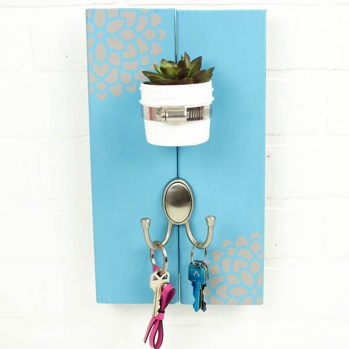Diy Succulent Key Holder With Images  Guest Bedroom Design Master Bedrooms Decor Small Bathroom