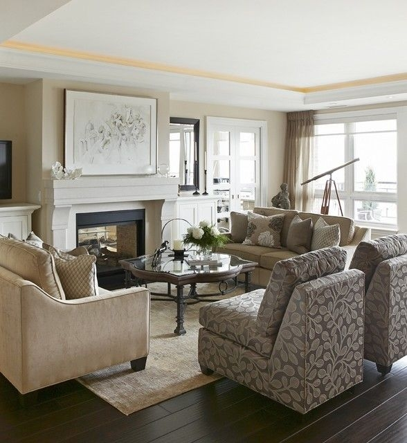 Elegant Living Space  Living Room  Toronto Jacqueline Glass And Associates