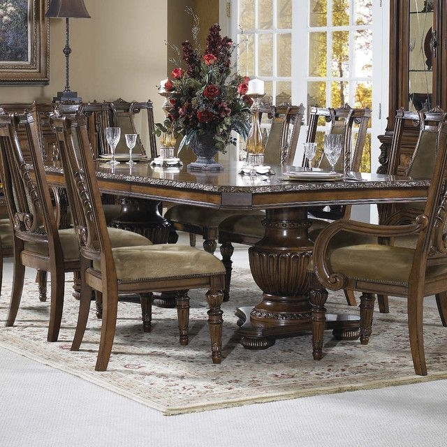 Empire Double Pedestal Dining Table  Dining Tables Modern Furniture Warehouse