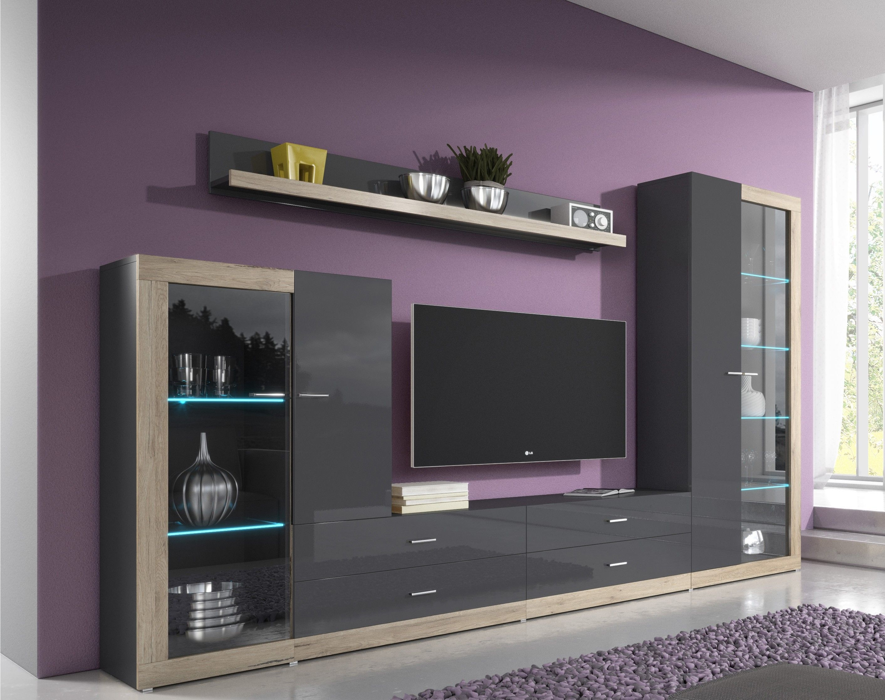 Entertainment Wall Units  Tv Unit Storage  Modern Wall Units  Living Room Wall Units  Design