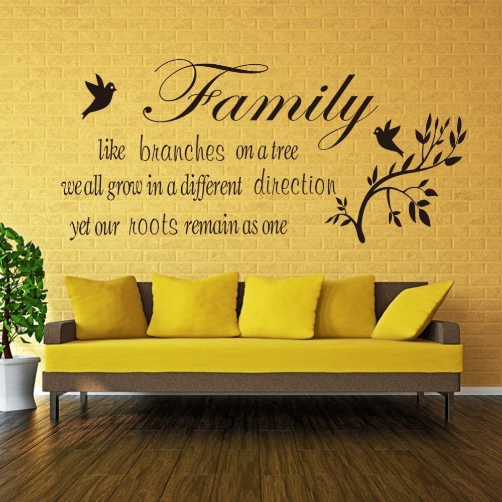 Family Like Branches On A Tree Vinyl Wall Quotes Stickers Wall Decals Letters Flower Decals Home