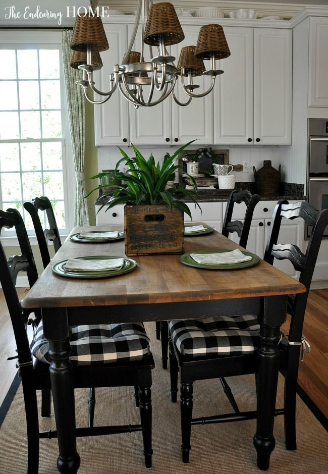 Farmhouse Style Kitchen Table Makeover The Endearing Home  Kitchen Table Makeover Farmhouse