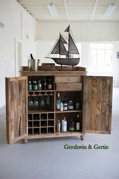 Farmhouse Wooden Bar Cabinet  Wooden Bar Cabinet Wood Bar Cabinet Diy Home Bar