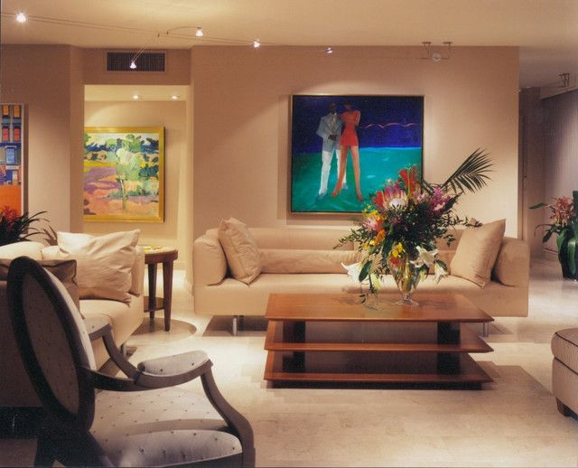 Florida Modern Condo With Contemporary Art  Modern  Living Room  Other Metro Wpl