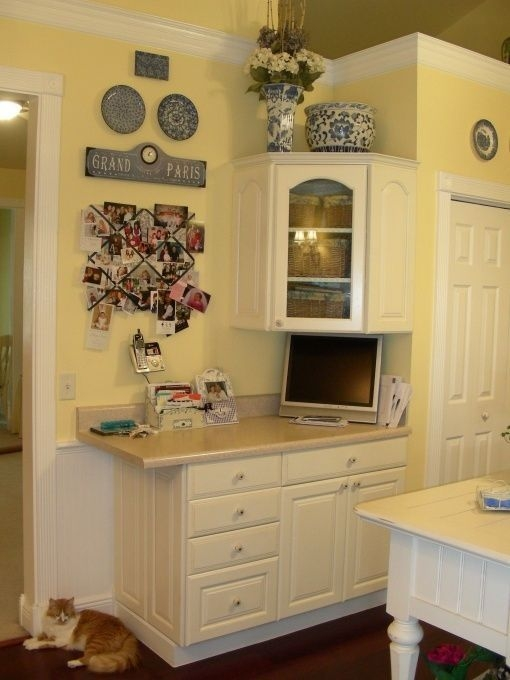 French Country Kitchen Yellow White Blue Awesomecathryn  Country Kitchen Designs