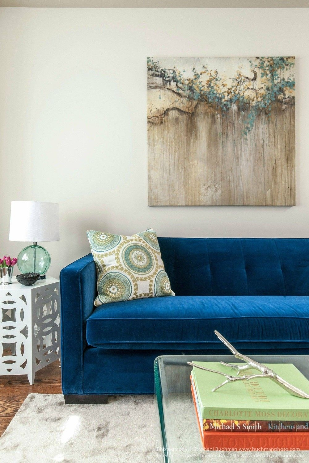 Furniture Trendy Blue Velvet Couch Design To Inspired Your Furniture Decorating Ideas