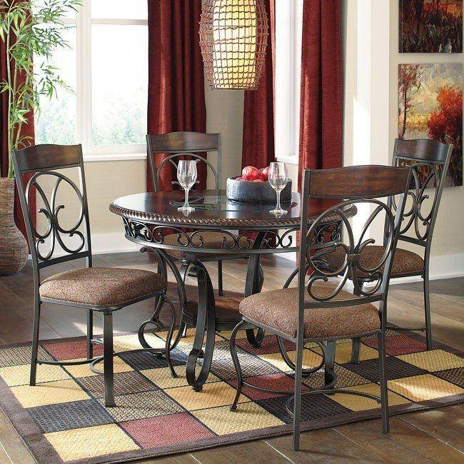 Glambrey Dining Room Set Signature Design  Furniture Cart