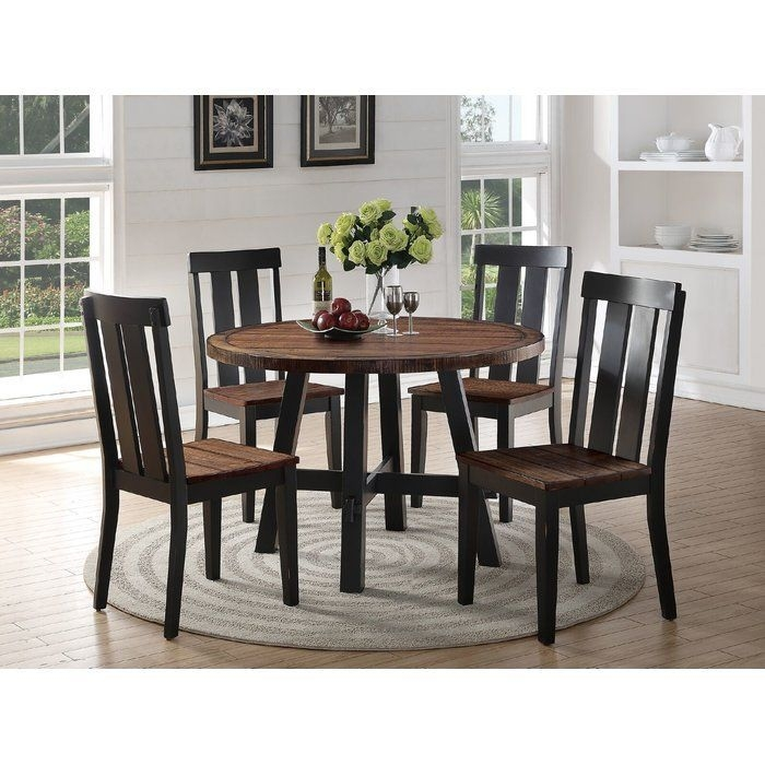 Goodman 5 Piece Dining Set  Kitchen Table Settings Solid Wood Dining Table