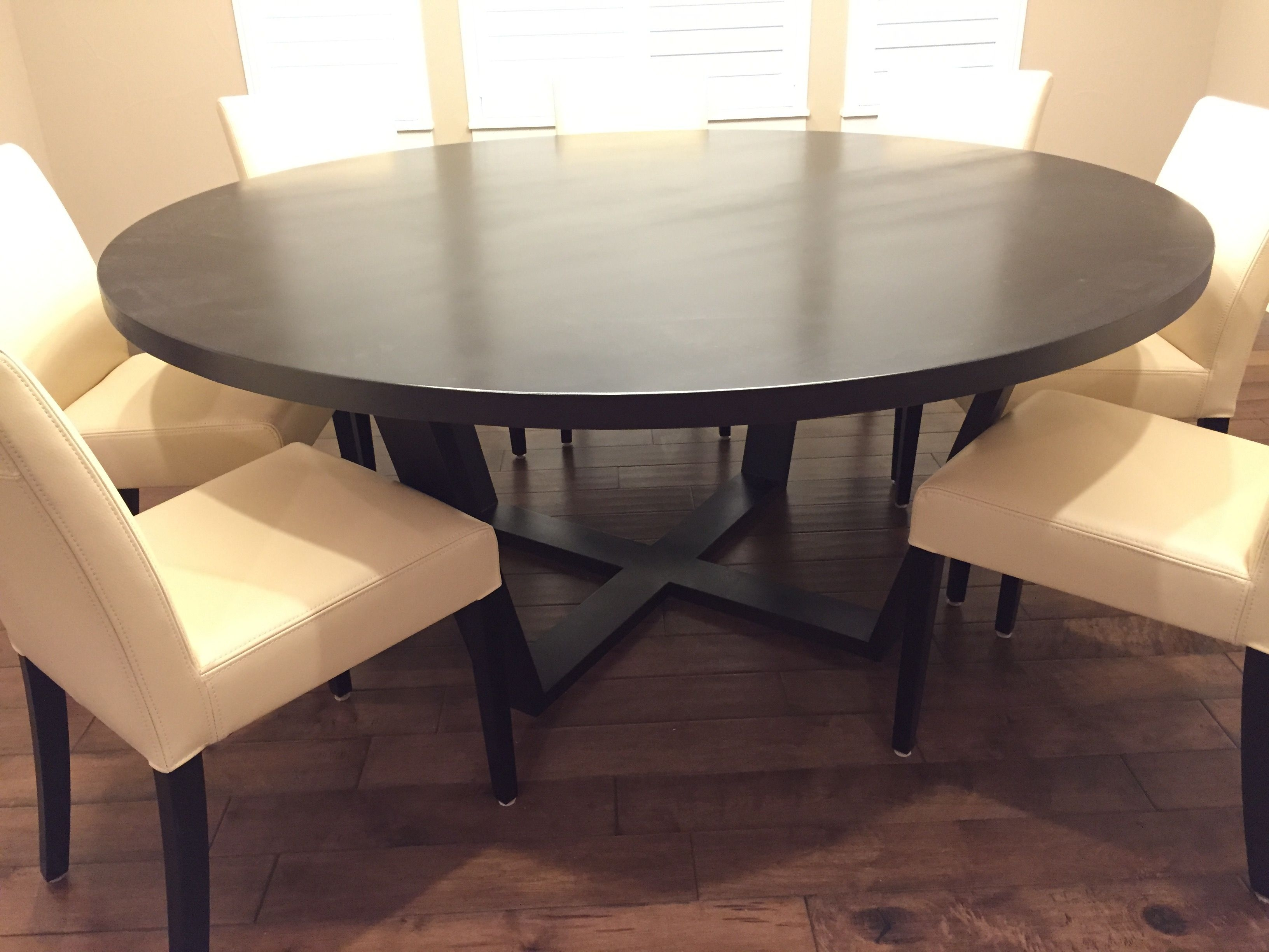 "Handmade Solid Maple 72"" Round Dining Tablefurniturecarlisle Llc  Custommade"
