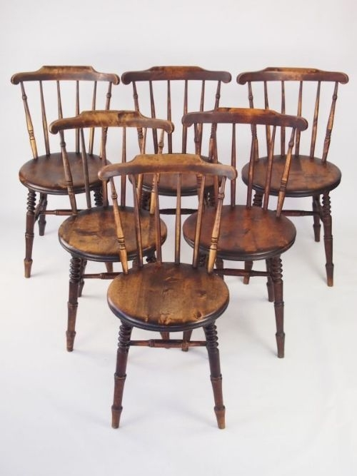 Harlequin Set 6 Pine Kitchen Chairs  Six Ibex Dining Chairs  302721  Sellingantiquescouk
