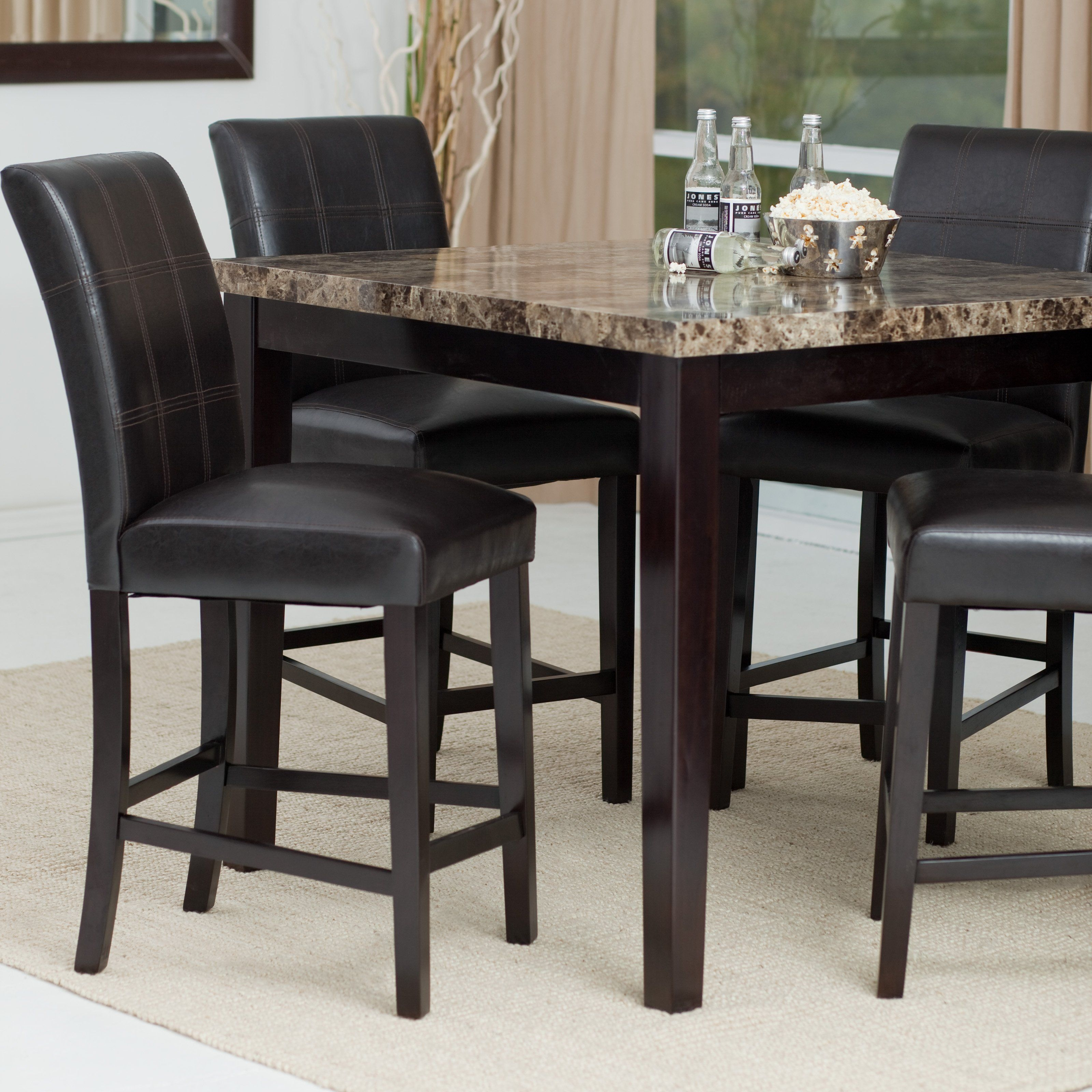Have To Have It Palazzo 5Piece Counter Height Dining Set  42998 Hayneedle  Dining